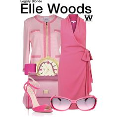 Inspired by Reese Witherspoon as Elle Woods in the Legally Blonde film franchise.