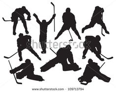 Find Vector Silhouettes Hockey Players stock images in HD and millions of other royalty-free stock photos, illustrations and vectors in the Shutterstock collection. Hockey Party, Ice Hockey, Hockey Posters, Hockey Tournaments, Hockey Room, Nhl News, Sport Craft, Silhouette Design, Winter Sports