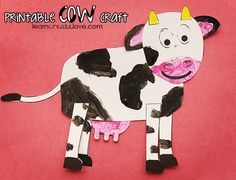 { Printable Cow Craft }