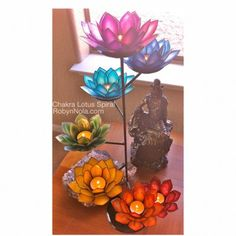Chakra Lotus Spiral candle holder. For my yoga studio