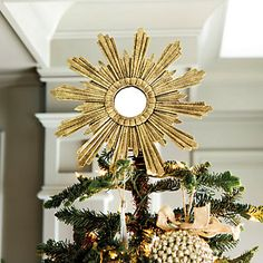 The staggered rays of our Venetian Tree Topper are crafted of layered tin and hand finished in a multi-step French tole process for rich texture. Christmas Tree Toppers, Christmas Holidays, Christmas Ornaments, Christmas Ideas, Christmas Stuff, French Christmas Decor, Merry Christmas, Blue Christmas, Christmas Inspiration