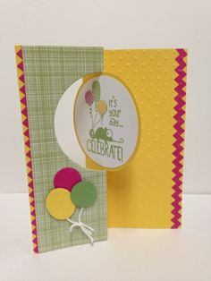 Lovley colors!  Thinlits circle card die, Tag it stamp set.  Sadly, this can only be found on Stampin' Connection...