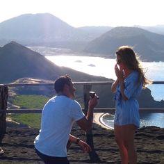 A proposal with a view. #BlueNileSparkle  •  •  •  #EngagementRing #Wedding #Proposal #Diamonds #Love #Ringoftheday #Sparkly #Shesaidyes #Weddingring