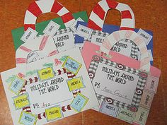 Christmas Around the World Travel Suitcase.  Start by making passports with the students' photos. :)