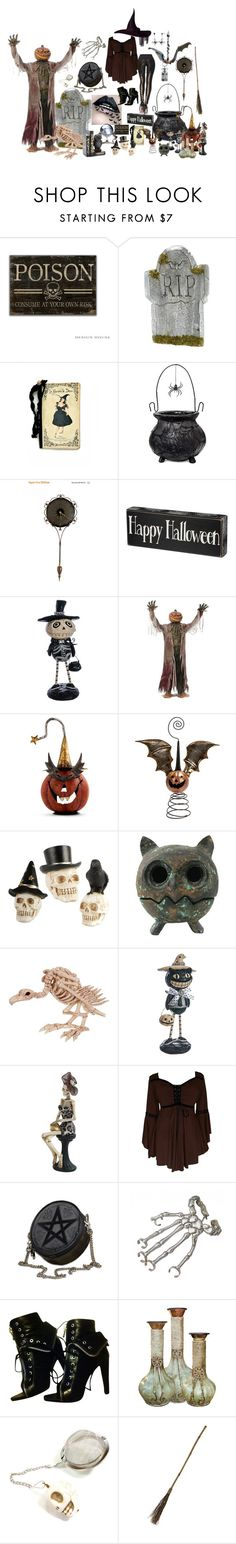 """Witch's Brew, Witch's Crew"" by noxyoursox ❤ liked on Polyvore featuring Leg Avenue, Allstate Floral, K&K Interiors, Buy Seasons, Mark Roberts, Bernard Delettrez, Alexander Wang and J. Peterman"