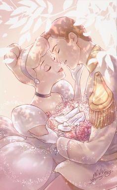 Cinderella & Prince Art by YK_AuroraMary