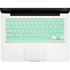"""Kuzy Mint GREEN Keyboard Cover Silicone Skin for MacBook Pro 13"""" 15""""... ($7.95) ❤ liked on Polyvore featuring accessories and tech accessories"""