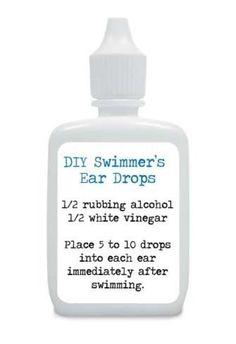 DIY Swimmer's Ear Drops.