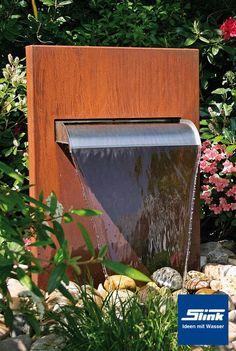 bepflanzbarer wasserfall brunnen cortenstahl led-beleuchtung kugel, Garten und bauen