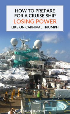 Some people were asking how the cruisers aboard the Carnival Triumph could have been more prepared for the lack of power and food aboard the ship.  Here are a few useful tips for those who want to be prepared for anything during their dream vacation.