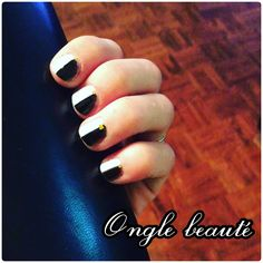 Mes ongles noir et blanc