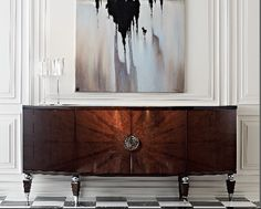 This sideboard is a great 'statement piece' for a room. Dining Room Furniture Sets, Art Deco Furniture, Cabinet Furniture, Luxury Furniture, Cool Furniture, Furniture Design, Modern Buffet, Japanese Interior, Interior Design Inspiration