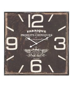 'Pharmaceutiques' Wall Clock #zulily #zulilyfinds