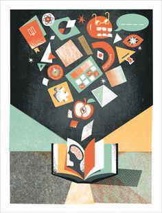 Various Screen Printed Posters Pt.3 by Paul Gardner, via Behance
