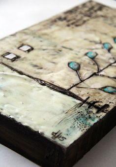 Encaustic-16- by donna downey