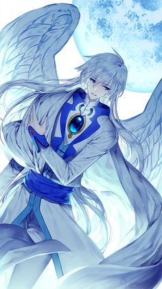 Yue (Yukito) from Cardcaptor Sakura. Cardcaptor Sakura, Yue Sakura, Syaoran, Anime Angel, Ange Anime, Anime Art, Girls Anime, Hot Anime Boy, I Love Anime