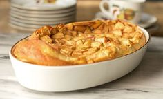 Apple Clafoutis - A Delightful Apple Custard Treat from MJ's Kitchen Ww Desserts, Dessert Recipes, Apple Custard, Clafoutis Recipes, Weigth Watchers, Food Words, Baked Apples, Soul Food, Food And Drink
