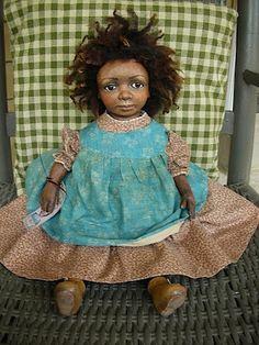 Rebecca Kerin Folk Art Dolls ~ Honey Bun