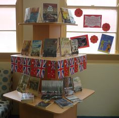 Display in SMS Library marking the centenary of the declaration of war, 4th August 1914.