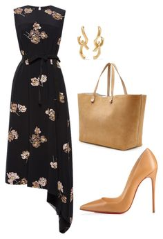 style theory by Helia by heliaamado on Polyvore featuring polyvore moda style Rochas Christian Louboutin Victoria Beckham Annelise Michelson fashion clothing
