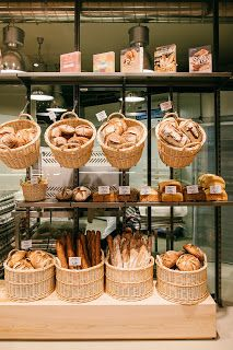 Bakery cafe, bakery interior, boulangerie patisserie, bakery shop design, c Bakery Shop Design, Coffee Shop Design, Restaurant Design, Bakery Decor, Bakery Interior, Decoration Patisserie, Bakery Store, Bakery Cafe, Bread Display