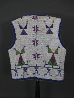 LAKOTA Sioux Indian Beaded Vest