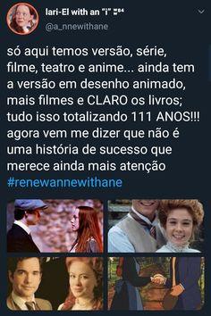 Anne with an E Anne of Green Gables Anne White, Gilbert Blythe, Perfect Movie, Anne Shirley, Stranger Things Netflix, Kindred Spirits, Sad Girl, Tv, Memes