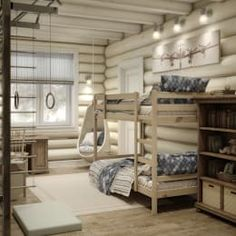 65 Cozy Rustic Bedroom Design Ideas - Di Home Design Cabin Homes, Log Homes, Pallet Ideas For Bedroom, Cottage Shabby Chic, Modern Log Cabins, Rustic Bedroom Design, Bedroom Designs, Cabin Interiors, Trendy Home