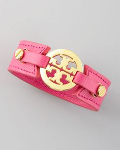 Etched Leather Cuff | Tory Burch