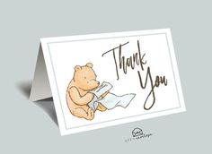 This classic Winnie The Pooh Thank You card is the perfect touch to thank your family and friends.  M A T C H I N G - I N V I T A T I O N https://www.etsy.com/listing/507063071/classic-winnie-the-pooh-baby-shower?ref=shop_home_active_8  M A T C H I N G - B O O K - I N S E R T https://www.etsy.com/listing/493584382/classic-winnie-the-pooh-baby-shower-book?ref=shop_home_active_9  M A T C H I N G - P A R T Y - B U N D L E https:/&#...