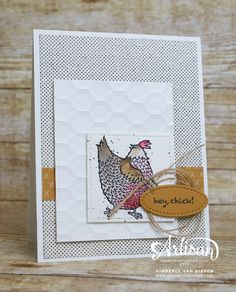 Hey, Chick stamp set. See this fun Sale-a-bration stamp set on my blog with details on how to color this adorable chicken.