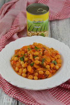 Tocanita picanta cu naut - CAIETUL CU RETETE Balanced Meals, Chorizo, Chana Masala, Curry, Healthy, Ethnic Recipes, Food, Curries, Essen