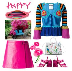 """""""Happy"""" by pepitarita ❤ liked on Polyvore featuring L'Agence and Moschino"""