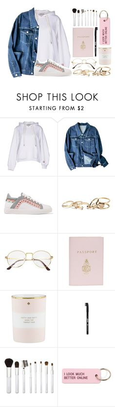 """Untitled #298"" by ksalma ❤ liked on Polyvore featuring T By Alexander Wang, Sophia Webster, GUESS, Mark Cross, Kate Spade, ULTA, Sonia Kashuk and Various Projects"