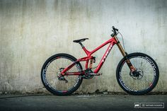 Brook MacDonald s speed machine awaiting it s master to go and blow up a mountainside.