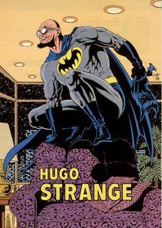 Hugo Strange by Paul Gulacy & Terry Austin Batman Art, Batman Comics, Dc Comics, Batman Arkham, Comic Villains, Comic Book Characters, Comic Books, Hugo Strange, Strange Art