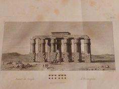 VIVANT DENON : Voyage dans la Basse et Haute Egypte : Ruines du temple d'Hermopolis / Tombeau égyptien à Lycopolis / Plan du tombeau. (Planche 33).<br /> - Edition Originale - Edition-Originale.com