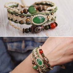 Macrame bracelet.