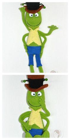 Crochet Animal Patterns, Stuffed Animal Patterns, Crochet Animals, Crochet Stitches Free, Crochet Hooks, Free Crochet, Crochet Disney, Crochet Baby, Knitted Teddy Bear