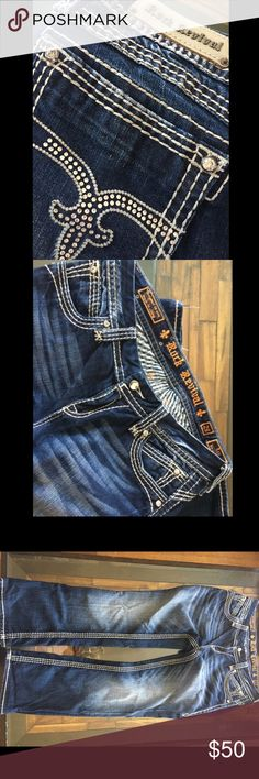 Rock revival jeans Size 29 have been hemmed are shorter, 28 inseam Rock Revival Jeans Boot Cut