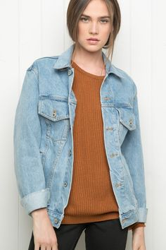 Brandy ♥ Melville | Amara Denim Jacket - Jackets - Outerwear - Clothing