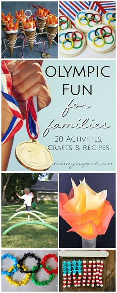 Who doesn't love a little Olympics fun? Check out these Olympic recipes, crafts and activities for kids!