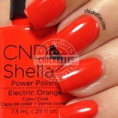 I'm trying to branch out a little into different brands, and this new collection by CND Shellac really caught my eye. I love bright, bold colors and these definitely fit that bill! Red Shellac Nails, Shellac Nail Colors, Cnd Colours, Red Orange Nails, Ring Finger Nails, Natural Gel Nails, Cnd Vinylux, Nails Only, Red Nail Designs