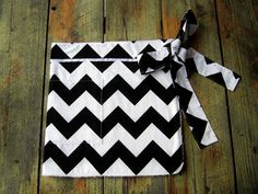 Custom Chevron Half Apron With Pockets  by LittleFootBoutique, $32.00