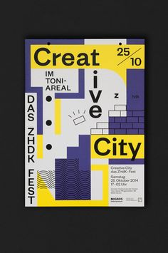 Creative City Creative City Zurich Opening Ceremony visual design in Poster