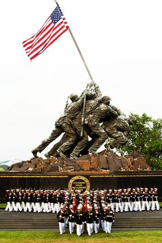 US Marine Corps War Memorial. My retirement flag was flown here. Once A Marine, Marine Mom, Us Marine Corps, I Love America, God Bless America, The Few The Proud, Us Marines, Women Marines, Support Our Troops