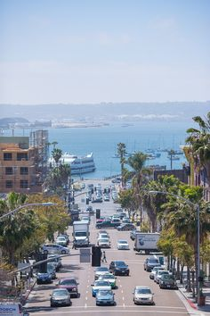 A breathtaking Harbor's view from Little Italy, San Diego, CA.  http://www.littleitalytours.com/