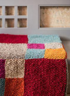 Diy Anleitung Patchwork Babydecke Tunesisch Häkeln Crochet