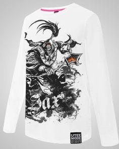 League of Legends tintas de impressão Jax camisa dos homens t de manga longa plus size tee-