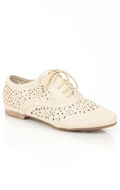 oxford shoe with perforated holes